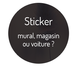 Graphiste freelance, création stickers murals, magasins, voitures