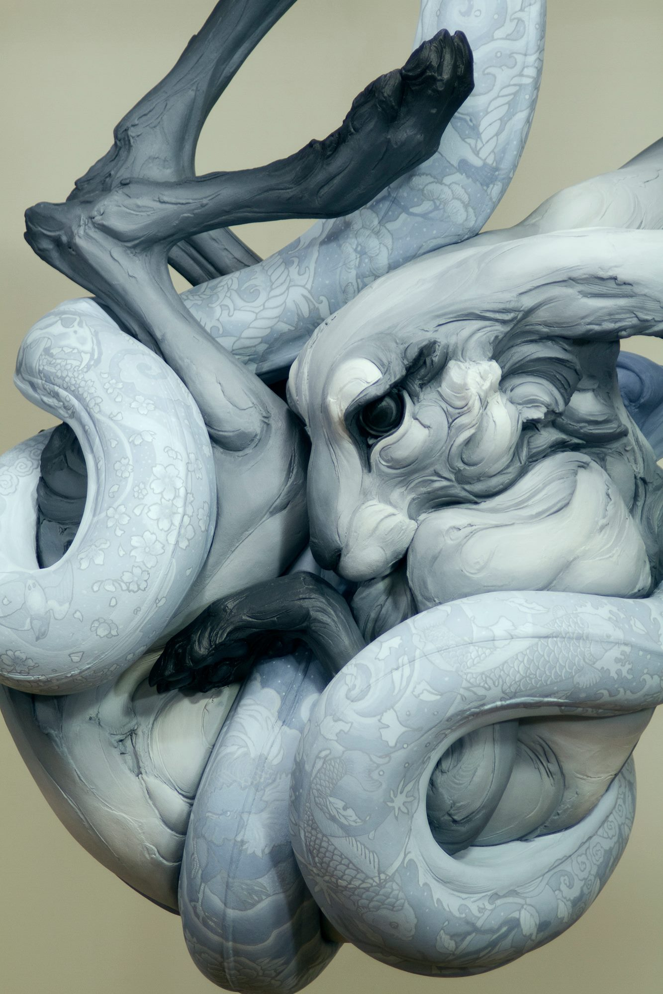 Beth Cavener – Tangled Up in You – detail – sculptures