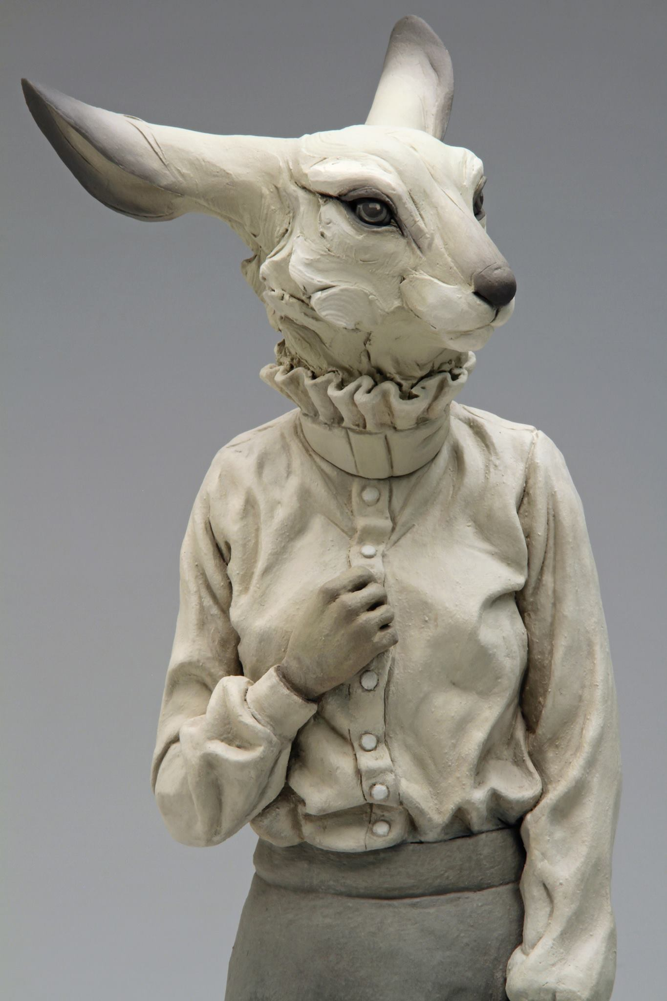 "Beth Cavener, collaboration with Alessandro Gallo – ""We Are Not Who We Seem"" sculpture"