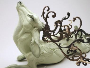Beth Cavener – sculptures – Obariyon-detail2