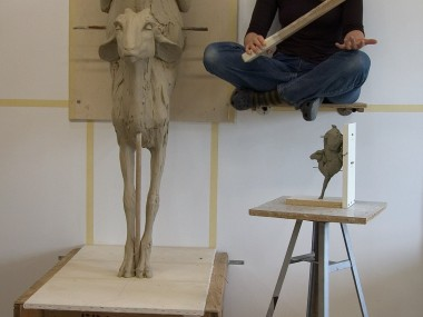 Beth Cavener – work sculpture in progress