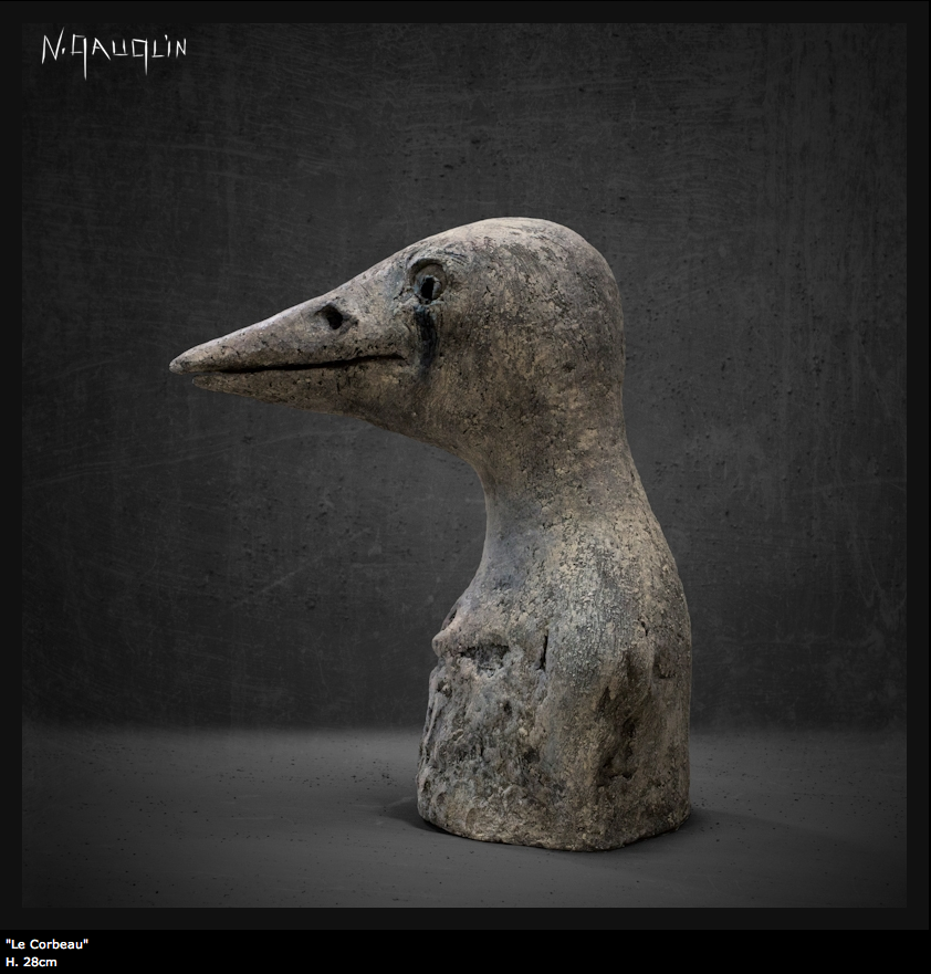 Nathalie Gauglin – Le corbeau – sculptures figuratives
