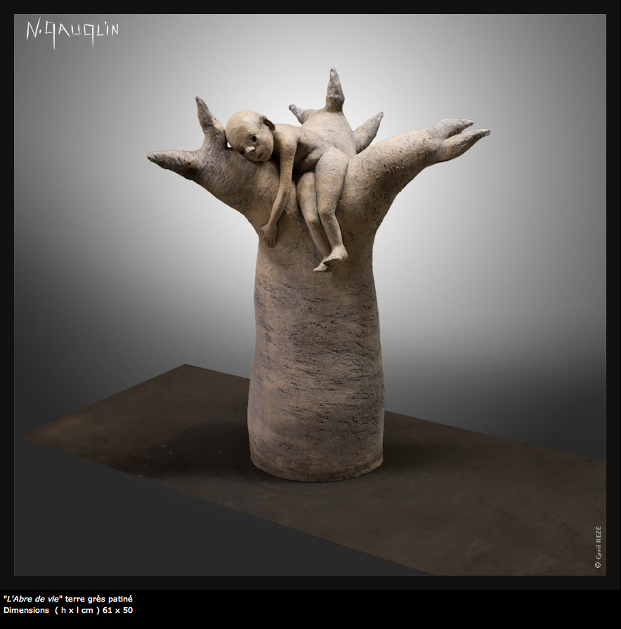 Nathalie Gauglin – l'abre de vie – sculptures figuratives