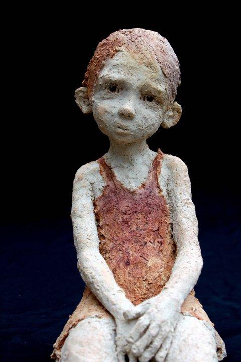 jurga – sculpture terre et bronze
