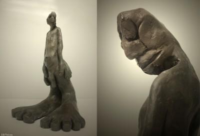 """""""Linsolent"""", sculpture figurative, argile faience noire – ©LilaVert"""
