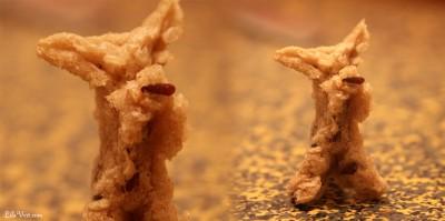 Sculpture éphémère – Mie de pain