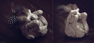 Prozac II – Le déchue – Sculpture LilaVert 2014