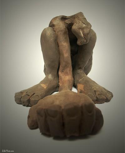 Santitre / Sculpture argile figurative ©LilaVert 2006