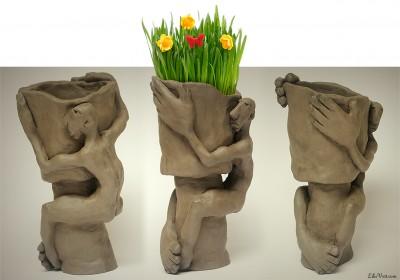 Union florale – sculpture Argile