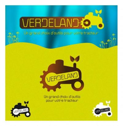 Creation Logo Verdeland. Un grand choix d'outils pour votre tracteur. / 2014
