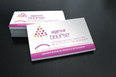 {Print} Agence de la Bourse au Havre – Creation logo et carte de visite