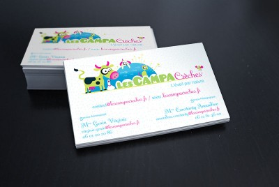 {Print} Creation Logo et Carte de visite Campa Creches