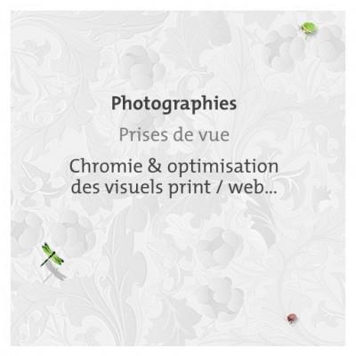 Graphiste freelance, Photographies, Prises de vue, Chromie visuels