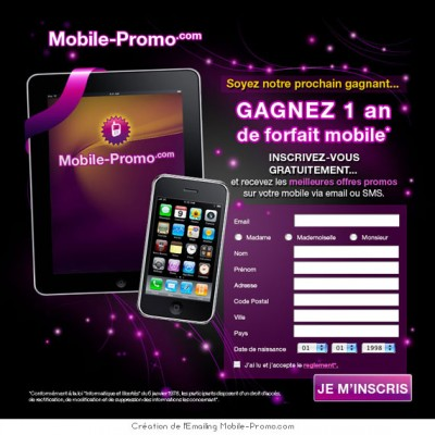 {Emailing} Mobile Promo