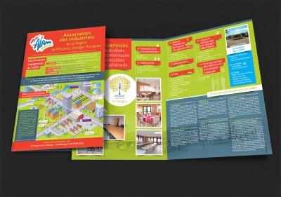 Création plaquette 2 volets – AIRM, Association des Industriels de la région de Meyzieu, Jonage, Pusignan (69)
