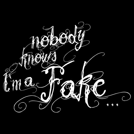 Nobody knows I'm a Fake tee-shirt