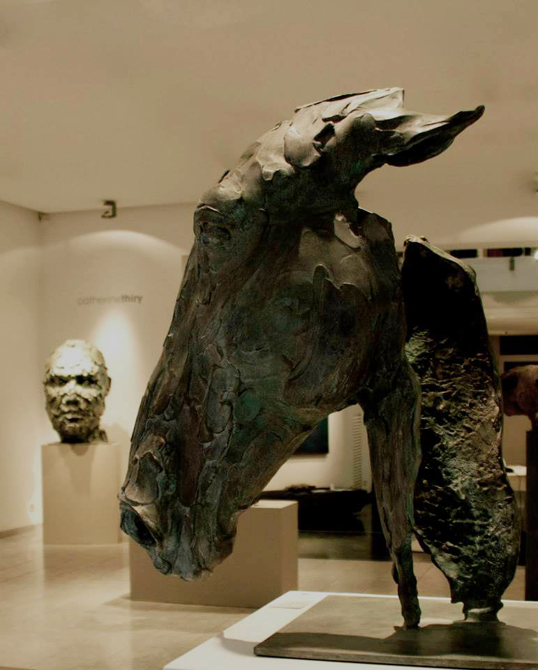Catherine thiry, sculptures – Persona, bronze – 80 cm