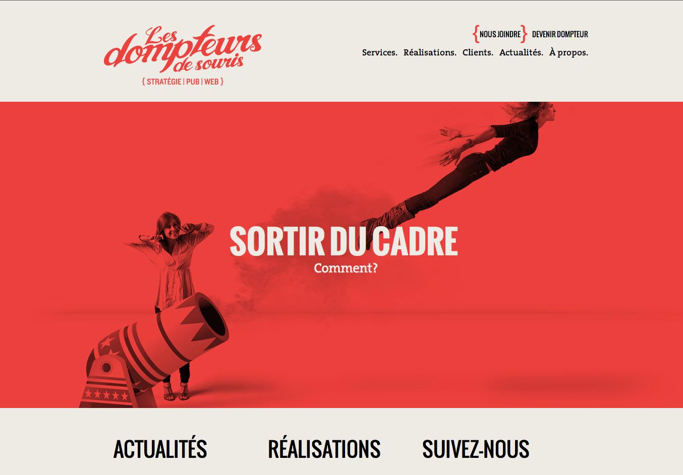 """Site d'une agence de communication en Responsive Design """"Les Dompteurs de Souris"""""""