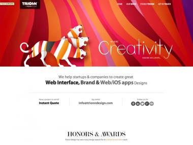 Site Agence Trionn Design / A design studio – Site responsive design