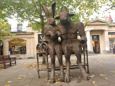 Sophie Ryder Artist – Minotaur and Lady Hare in Cheltenham