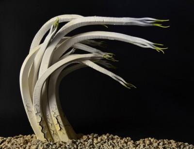 Alberto Bustos – Broto en blanco – sculptures ceramiques / www.bustosescultura.es