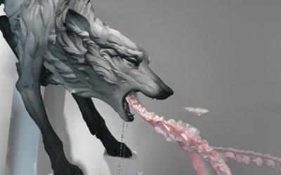 Beth Cavener – sculptures – wolf