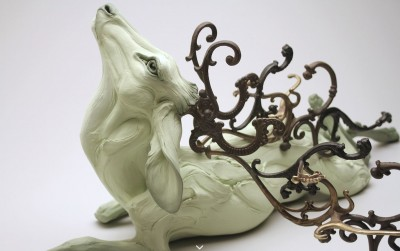 "Beth Cavener – sculptures – ""Obariyon"" -detail"