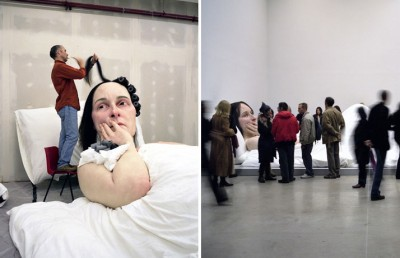 IN BED by Ron Mueck, 2005.