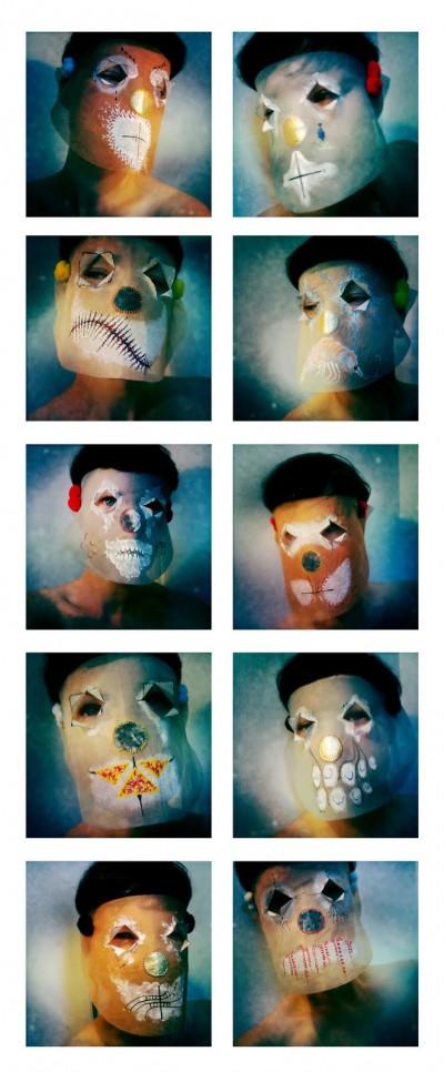 Damselfrau – Limited Edition Microwave Clowns / Mask maker artist / damselfrau.blogspot.fr/