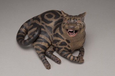 "Esther Shimazu, Talk Tabby, 2009, 7"" x 11"" x 8"""