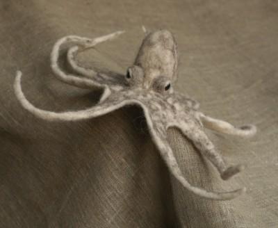 Grisha Dubrovsky – felted octopus / http://www.fadeeva.com/