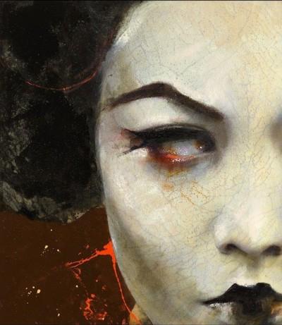 Lita Cabellut -Dried Tear – 2013. Mixed Media, 115×110 cm. – http://www.litacabellut.com/