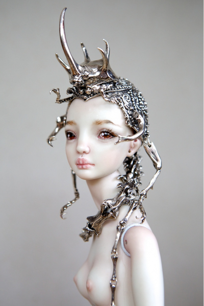 Marina Bychkova- Enchanted Doll -The Hybrid Beetle Crown / http://www.enchanteddoll.com