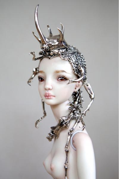 Marina Bychkova- Enchanted Doll -The Hybrid Beetle Crown / http://www.enchanteddoll.com