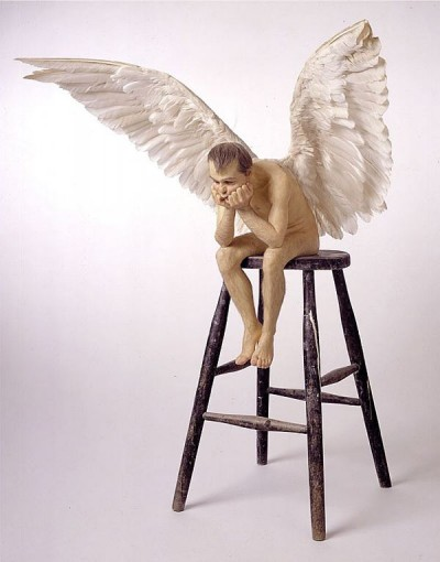 RON MUECK, Angel, 1997, Silicone rubber and mixed media.