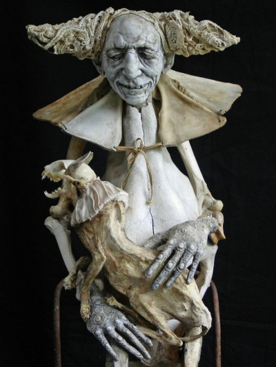 Sabrina Gruss – sculptures mixed-media – Defunts animés
