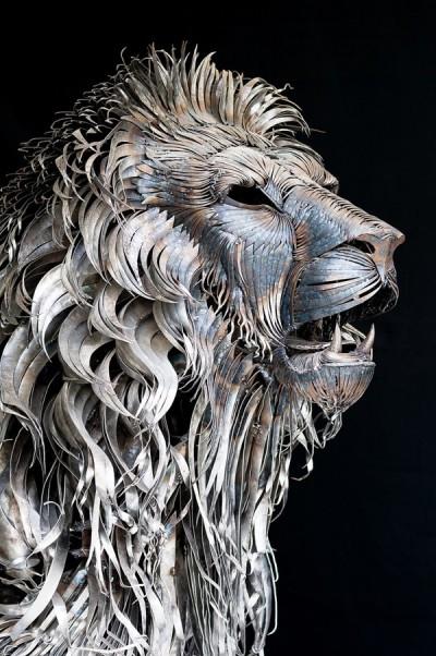Selçuk Yılmaz – Lion – Steampunk sculpture / www.behance.net/selcukylmz