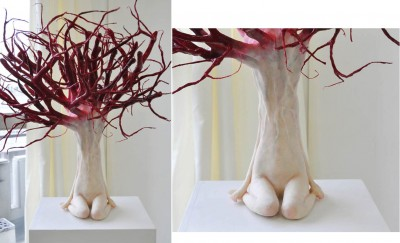 Yui Ishibashi – The tree – 70×51×50cm – steel wire,resin clay – 2011 / http://ishibashi-yui.6.ql.bz/