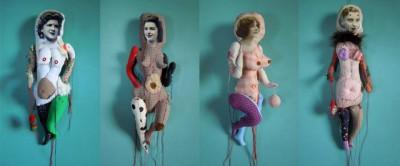 Cecile Perra, Artiste plasticienne – Poupées – les coquines – http://www.artperra.fr