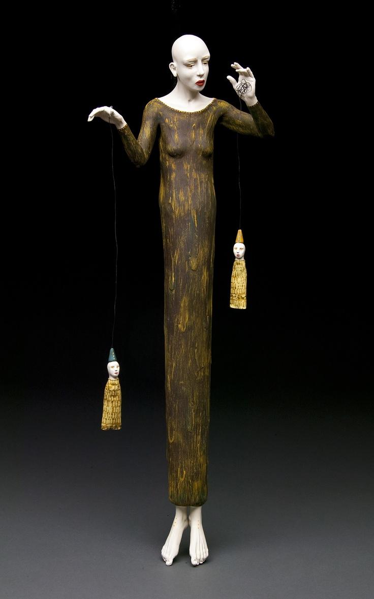 Kirsten Stingle – Sculptures – Porcelain Stoneware 25 x 7 x 6