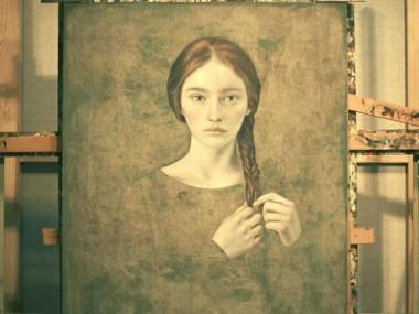 Louis Treserras – peinture femme tresses