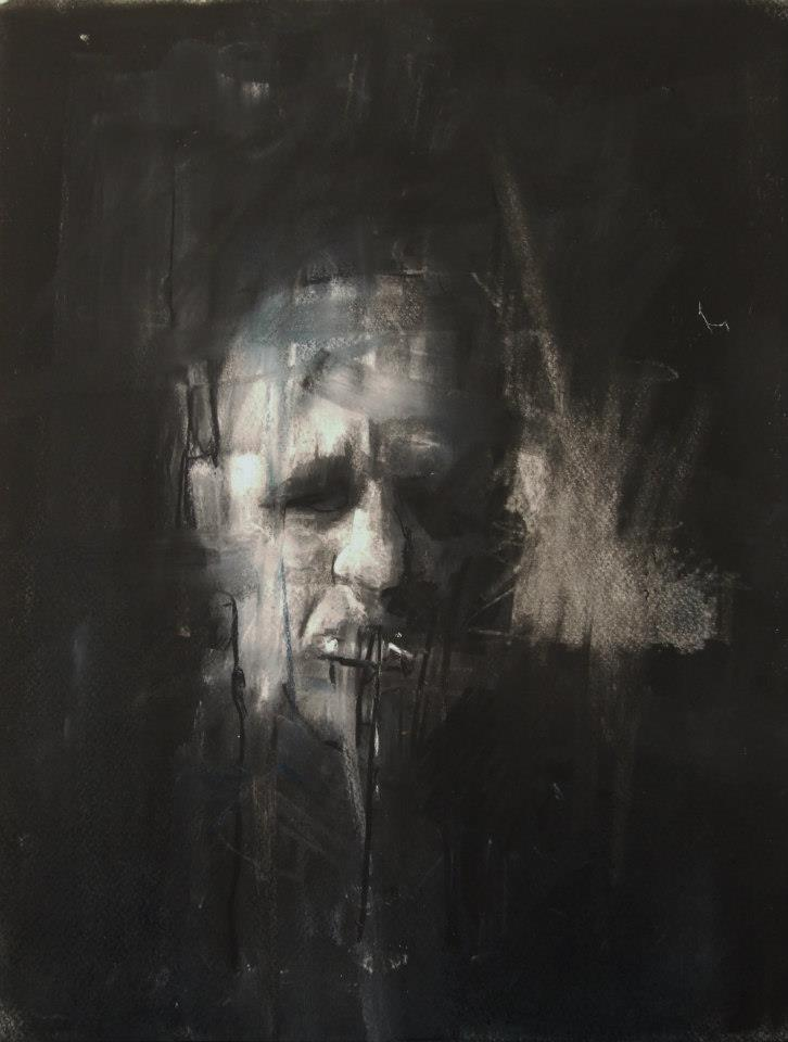 Guy Denning – self-portrait in my favourite, blue, hair shirt