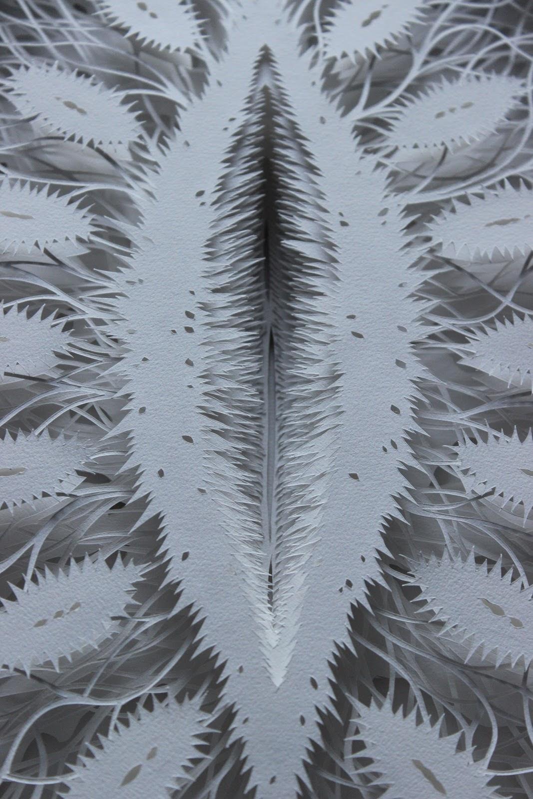 Rogan Brownart – Cut Pod (handcut watercolour paper 150x84cms