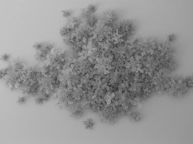 Rogan Brown – Paper Sculptures cell cloud