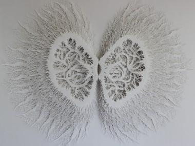 "Rogan Brownart – ""Kernel"" Hand cut layered paper sculpture"