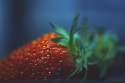 Eat me ! Strawberry / Fraise – Macrophotographie ambiance – ©LilaVert