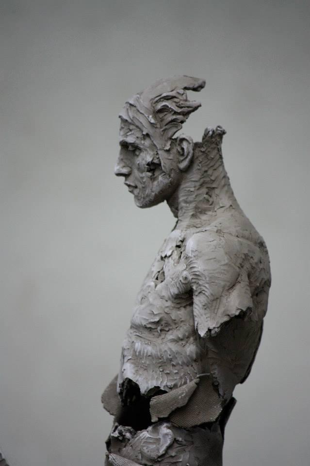 Christophe Charbonnel, sculpture Cavalier III et Cavalier IV originaux terre cuite 2010