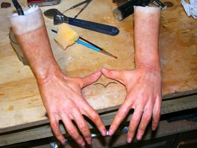Hyper Realistic Sculpture Silicone – Hands details – Steve Scott