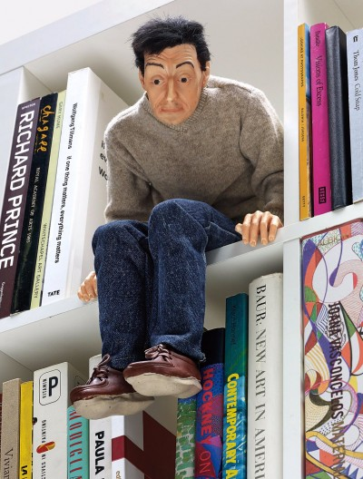 "Maurizio Cattelan – ""Mini-me"", 1999 – Resin, rubber, fabric, hair and paint media"