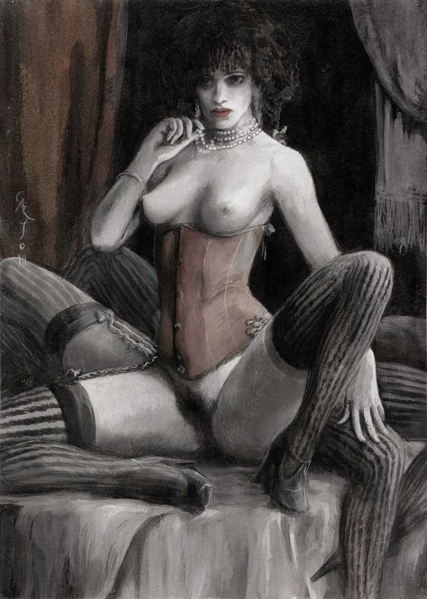 Santiago Caruso – Aracne illustration